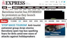 Portadas de 'Express' y 'The Sun' sobre los últimos ataques de Arran