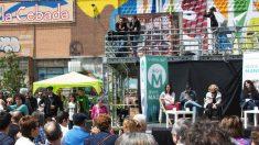Manuela Carmena en un acto en el Campo de la Cebada. (Foto. AM)