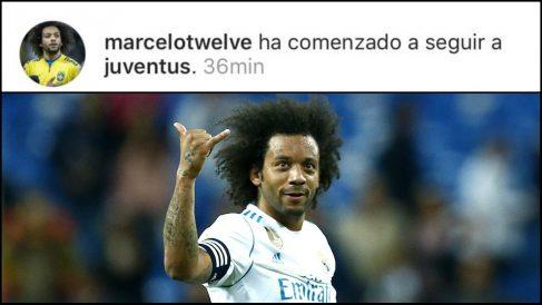 Marcelo comienza a seguir a la Juve.
