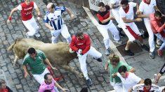 Encierro de los toros de Núñez del Cuvillo en San Fermín 2018. (Foto: AFP)