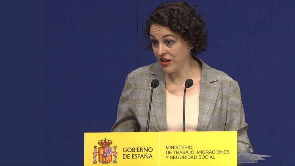 La ministra de Trabajo, Migraciones y Seguridad Social, Magdalena Valerio (Foto: Europa Press).