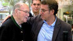 El ex presidente de la Xunta de Galicia, Gerardo Fernández Albor, y el actual, Alberto Núñez Feijóo