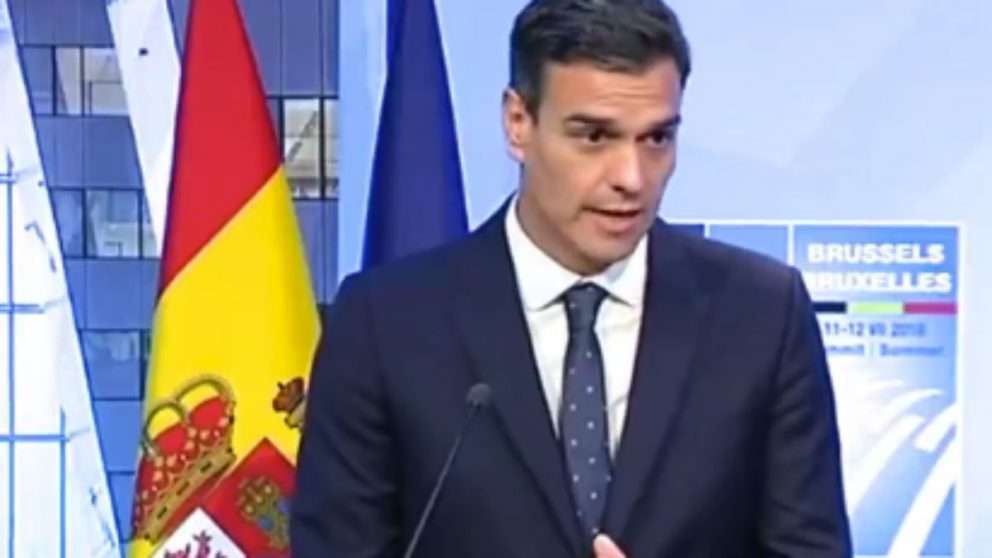 Pedro Sánchez en Bruselas (RRSS).
