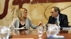 Elsa Artadi y Quim Torra. (Foto: EFE)