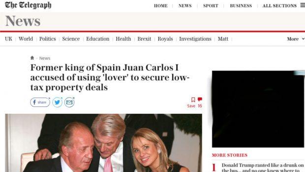 Las cintas de Corinna publicadas por OKDIARIO llegan a la prensa británica