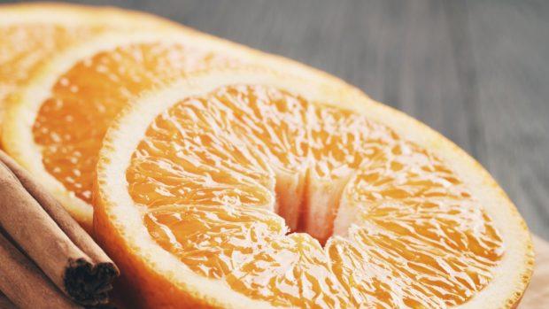 naranjas con canela y aceite