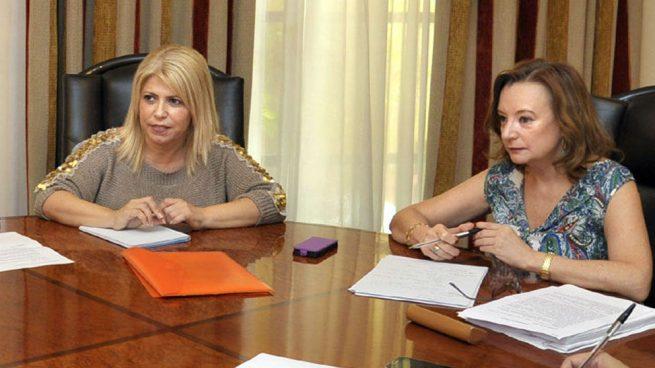 Mamen Sánchez, alcaldesa de Jerez y Mila Pérez, su asesora