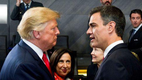 Donald Trump y Pedro Sánchez en la cumbre de la OTAN (Foto: Moncloa)