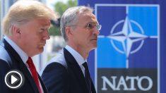 Donald Trump y Jens Stoltenberg (Foto: AFP)