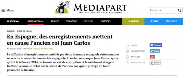 Lo que la vieja prensa española se niega a contar del rey Juan Carlos lo hace la prensa mundial