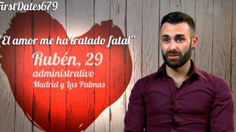 Rubén ha ido a buscar el amor a 'First Dates'