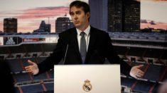 Lopetegui, durante su presentación con el Real Madrid. (Getty Images)