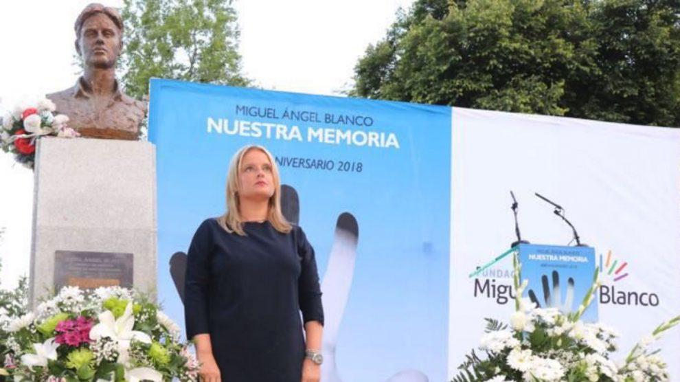 Marimar Blanco en un homenaje a su hermano, Miguel Ángel Blanco. (RRSS)