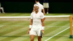 Nadal se lamenta en su encuentro con Djokovic. (Getty)