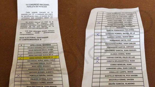 El PP de Cantabria amañó la papeleta de los compromisarios para favorecer a Soraya y De la Serna