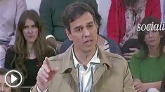 Pedro Sánchez diciendo que publicaría la lista de amnistiados fiscales cuando llegara al Gobierno (Imágenes cedidas por RTVE).