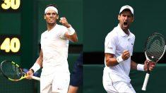 Rafael Nadal y Novak Djokovic. (Getty)