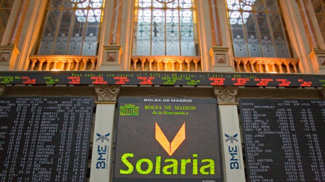 Solaria se hunde hasta un 13% en Bolsa tras colocar un 15% del capital a un precio de 5,80 euros