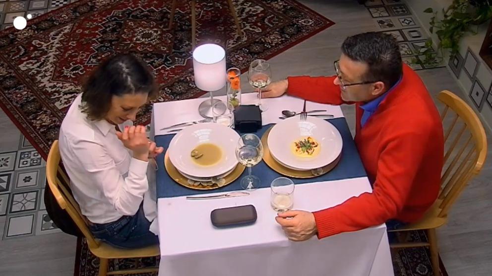 Silvia y Jaime en su cita en 'First Dates'