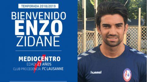 Enzo Zidane, nuevo jugador del Rayo Majadahonda.