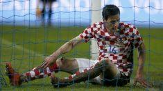 Nikola Kalinic durante un partido con Croacia. (Getty)