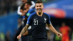Lucas Hernández, durante un partido con Francia. (Getty)