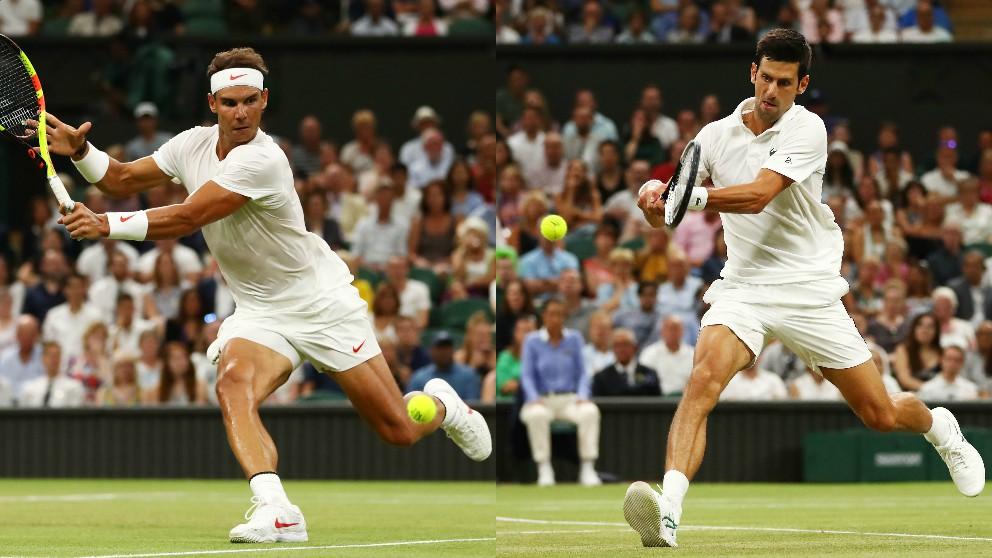 Rafael Nadal y Novak Djokovic.