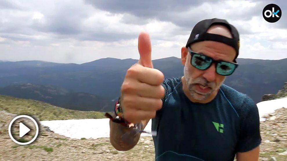 Rubén Lopez, en la cima de Peñalara.