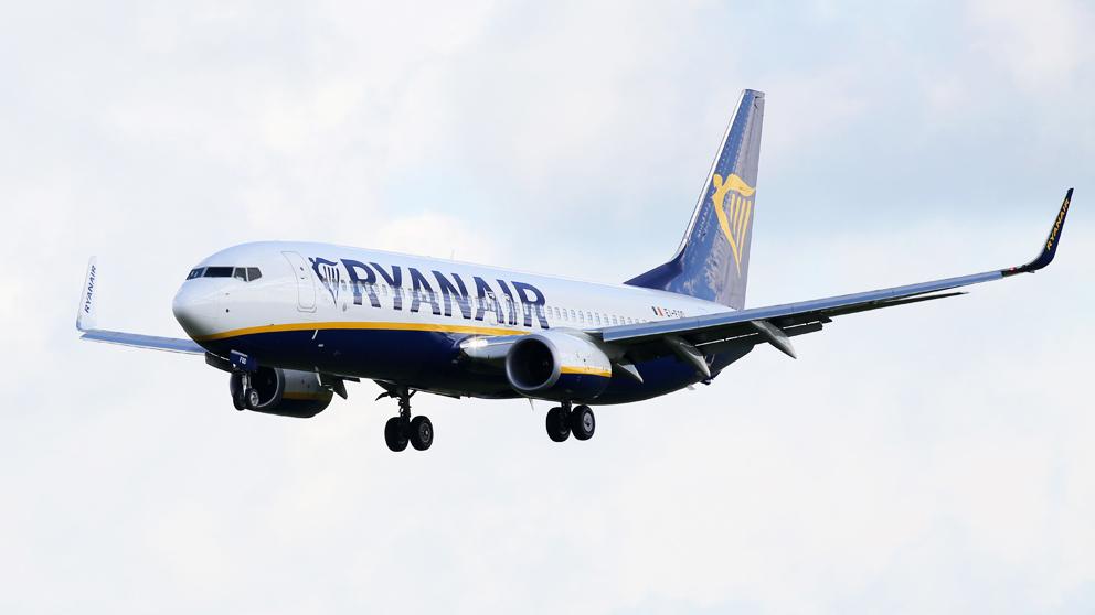Avión de Ryanair. (Foto: AFP)