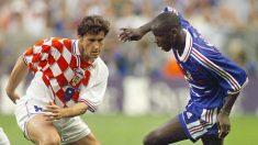 Suker y Thuram, durante las semifinales del Mundial de 1998. (AFP)