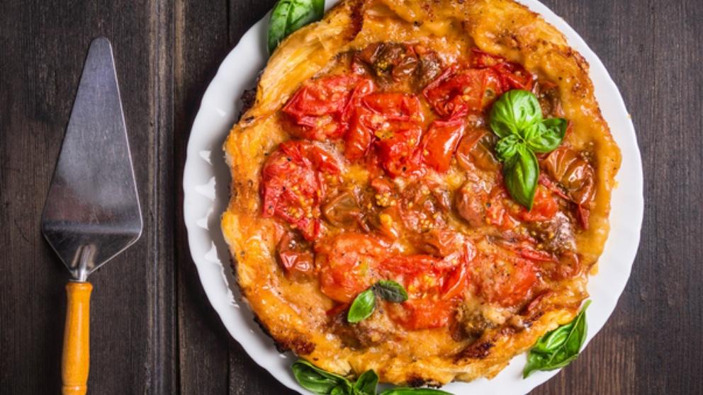 Receta de tarta tatín de verduras, saludable y fácil de preparar