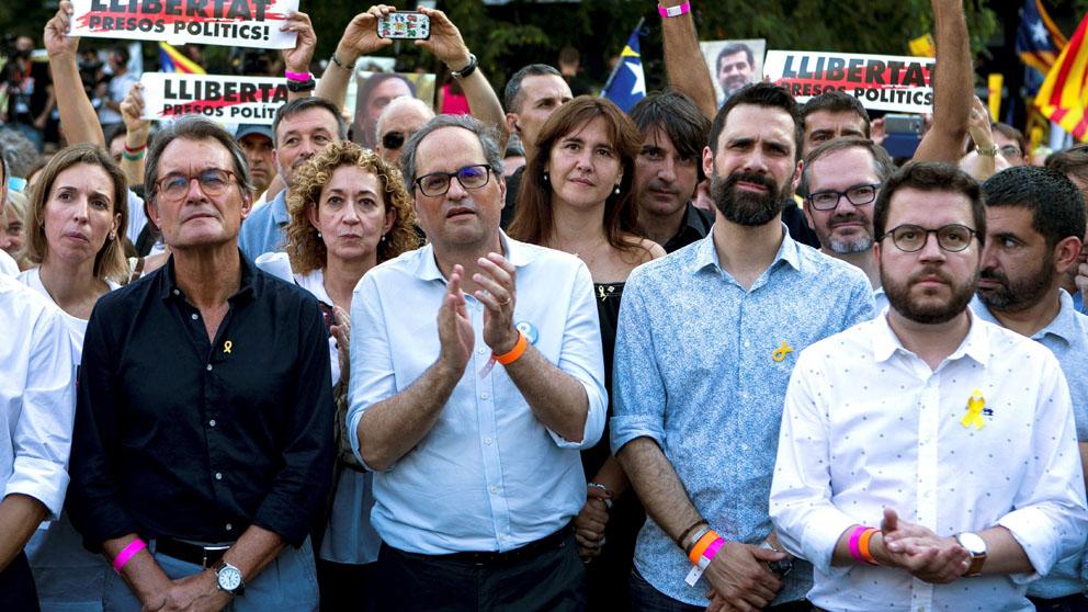 Quim Torra en una manifestación separatista (Foto: EFE)