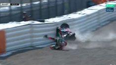 Aleix Espargaró no podrá correr el GP de Alemania de MotoGP tras sufrir un grave accidente durante el Warm Up matutino.