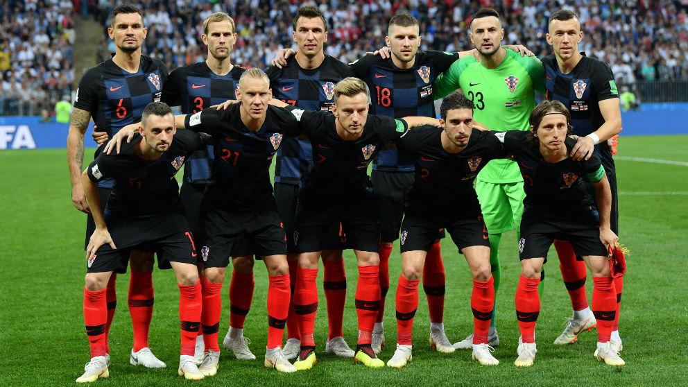 Alineación oficial de Croacia. (Getty)