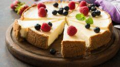 Receta de cheesecake al estilo Nueva York, la auténtica tarta de queso