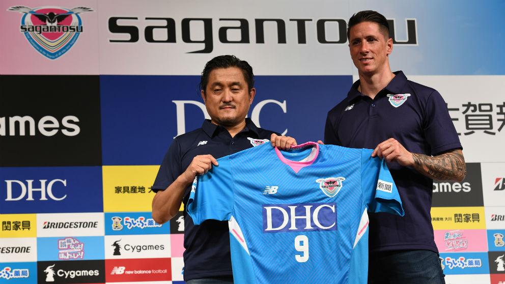 Fernando Torres, durante su presentación en Japón. (AFP)