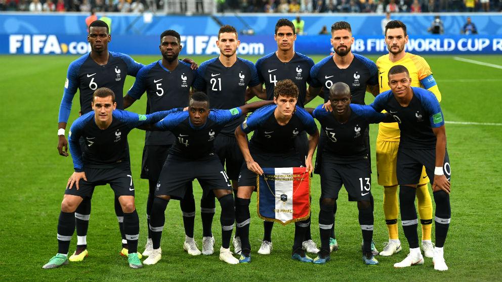 Alineación oficial de Francia. (Getty)