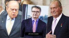 Jordi Pujol, Arturo Fasana y el rey emérito Juan Carlos.