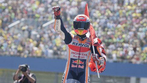 Marc Márquez ha ganado hoy en Sachsenring dando una clase maestra de cómo ha de gestionarse una carrera de MotoGP. (Getty)