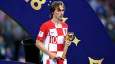 Luka Modric, Balón de Oro del Mundial 2018. (Getty)