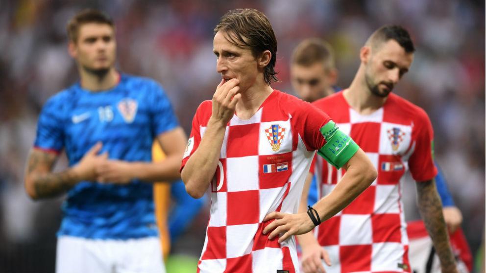 Modric, totalmente decepcionado con el resultado del partido. (Getty)