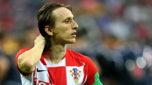 Modric, al término de la final del Mundial 2018. (Getty)