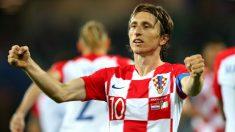 Luka Modric celebra un gol en el Mundial. (Getty)