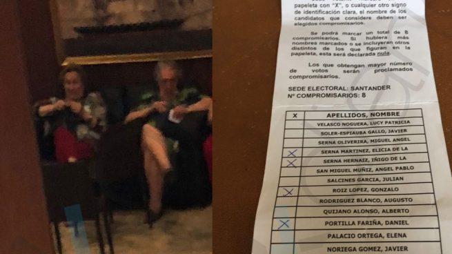 La tía ex monja de De la Serna repartió papeletas amañadas para beneficiar a los sorayistas en Cantabria