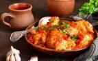 Receta de pollo marinado con verduras