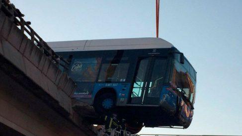Autobús del Mad Cool suspendido