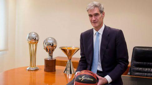 Antonio Martín, nuevo presidente de la máxima competición nacional de baloncesto. (ACBPhoto)