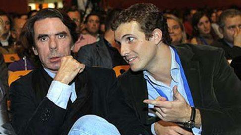 José María Aznar, ex presidente del Gobierno, y Pablo Casado.