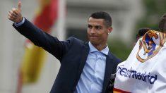 Cristiano Ronaldo, en la celebración de la Decimotercera. (EFE)