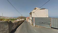 Zona de la Cruz de los Martillos, en La Orotava (Tenerife), donde se produjo el suceso.